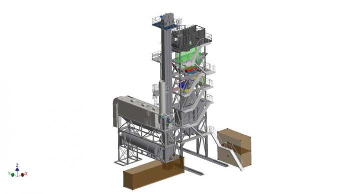 "TELTOMAT Containeranlage ""RAPID"" 140/180 t/h"