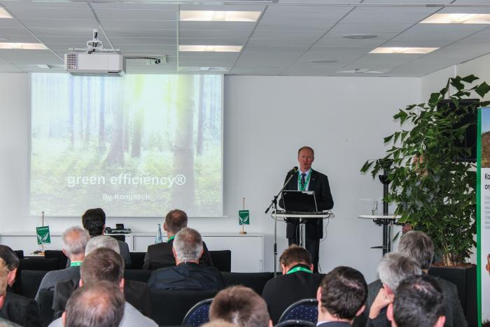 Green Efficiency Tage Oelde Vortrag Filip Daniels, Geschäftsführer Komptech Vertriebsgesellschaft Deutschland GmbH