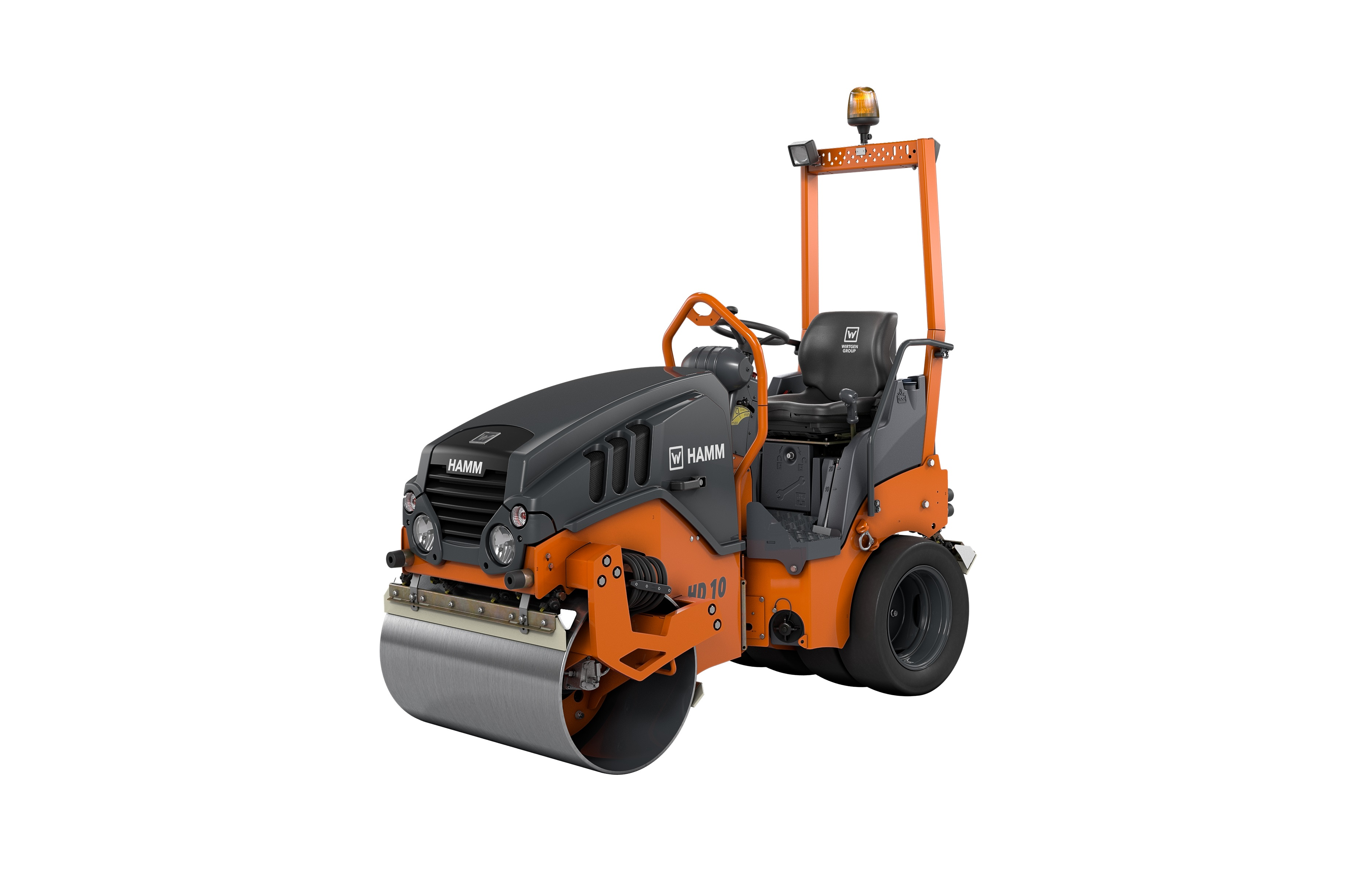 The new Hamm HD 10C VT compact combi roller with Clear Side can compact all the way up to walls and other high boundaries.