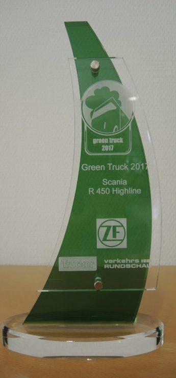 Neuer Scania R 450 gewinnt Umweltranking und wird Green Truck 2017