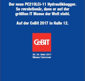 Komatsu auf der CeBit 2017 in Hannover – Hall 12 / Stand 25