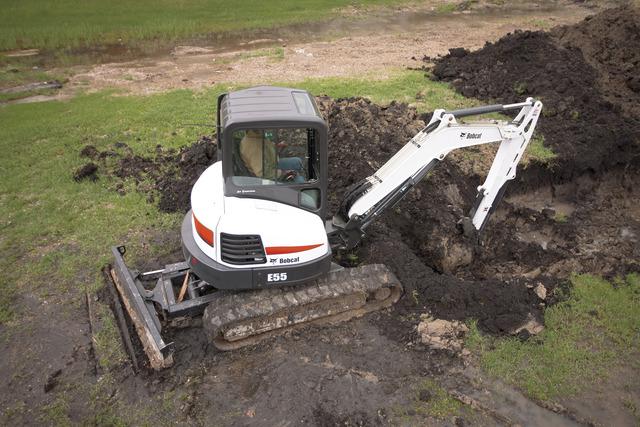 Bobcat E55 compact excavator