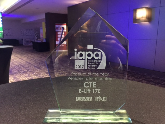 CTE B-LIFT 17 E - Product of the Year 2017