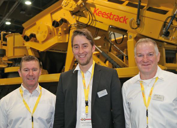 Peter McGeary, Sales Manager Keestrack America, Freek Hoogendoorn, member of the Keestrack owner family and Scott Price, After Sales Manager Keestrack America.
