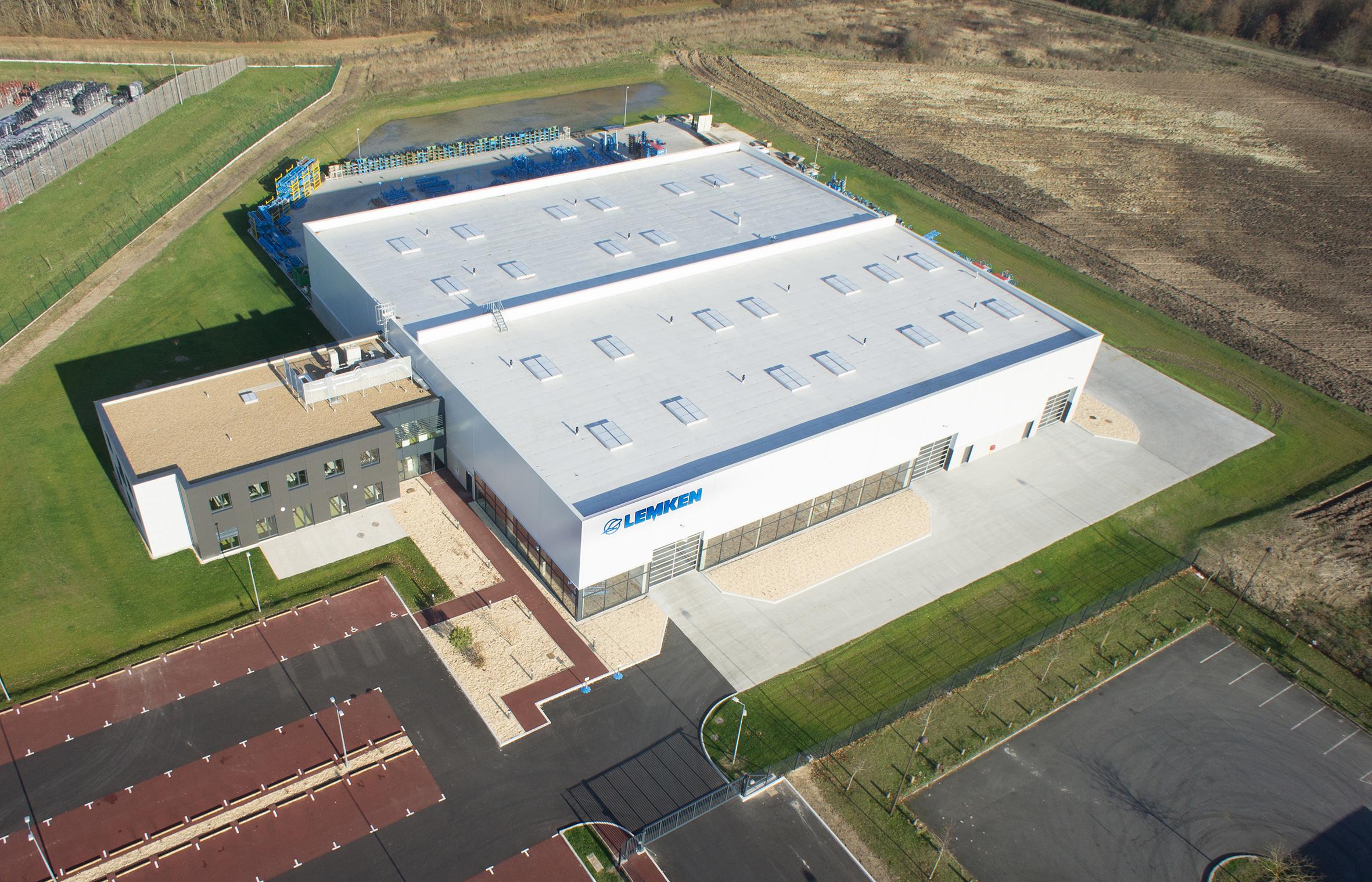 Der neue Firmensitz der LEMKEN France, Luftbild