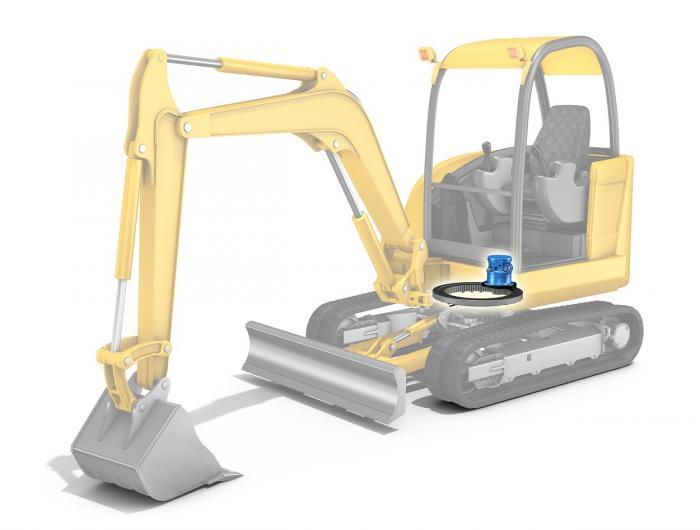 The range of MZ hydraulic motors designed for swing drive