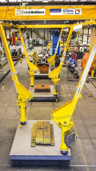 Die Krane werden im CraneSolutions-Werk in Katwijk, NL gefertigt.