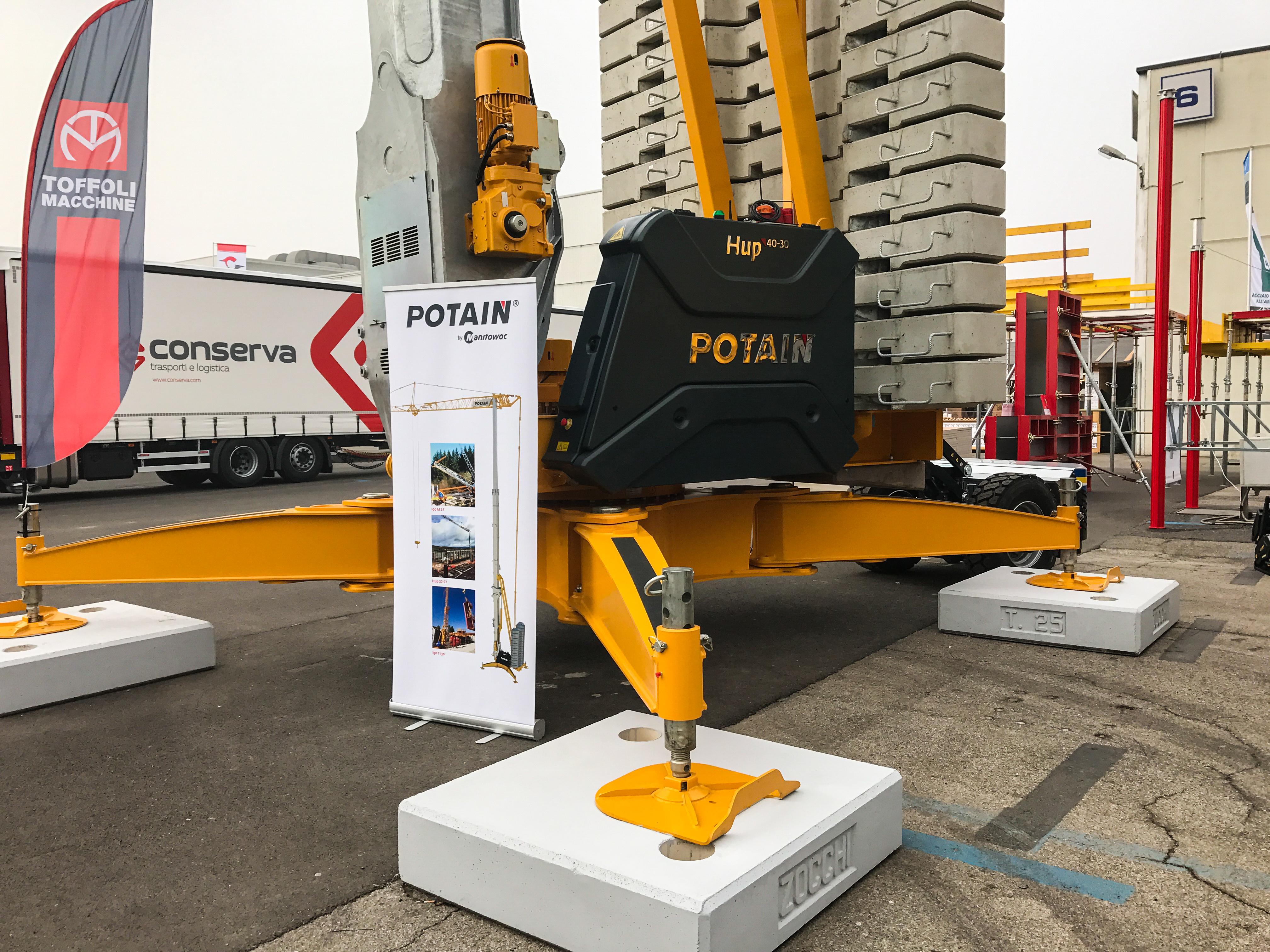 Potain Hup cranes showcased at Italian trade fair SaMoTer