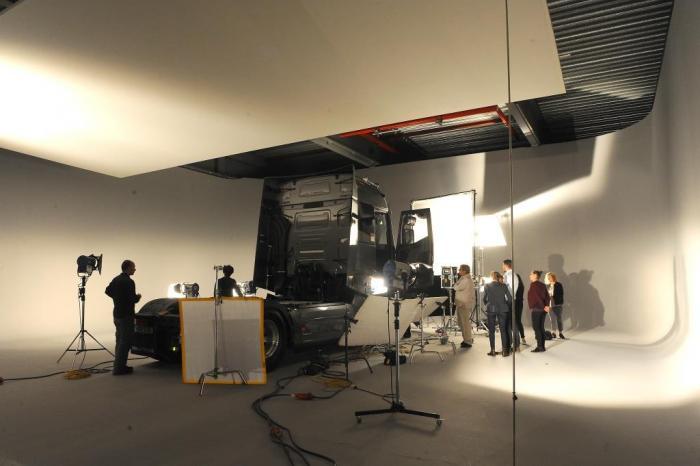 Dreharbeiten zum 360°-Video mit Det Müller in der Hauptrolle.