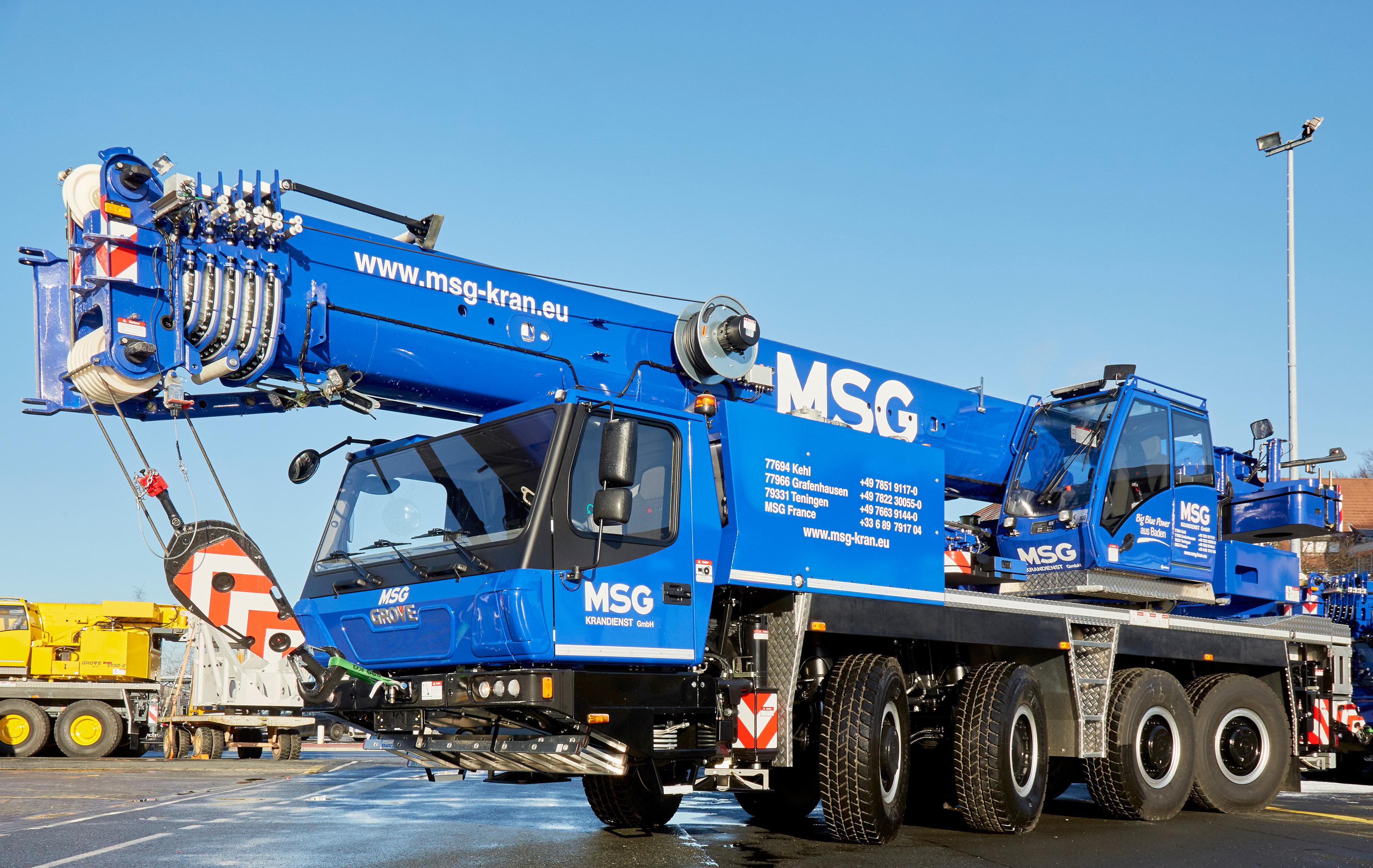 Sieben neue Grove-Krane für die MSG Krandienst GmbH