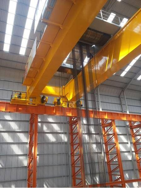 Overhead Crane Safety South Africa : First of three tonne winches put into operation