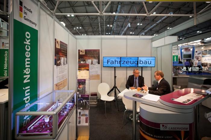 Auf dem mitteldeutschen Gemeinschaftsstand präsentieren sich Unternehmen aus Sachsen, Sachsen-Anhalt und Thüringen