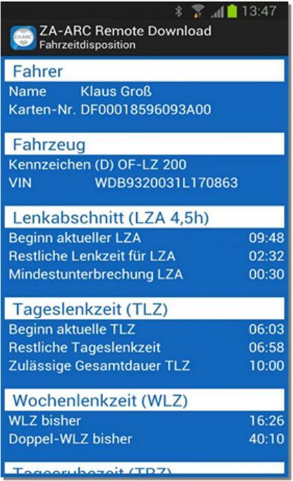Mit der Gratis-App ZA-ARC® Remote Download von Zauner erhält der Anwender eine weitere Alternative zu den konventionellen Download-Möglichkeiten für die vollautomatische Verarbeitung und Archivierung aller Tachographendaten.