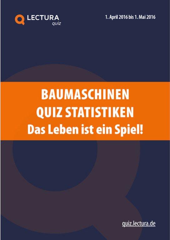 Baumaschinen Quiz 2016 - Bericht zur Markenerkennung